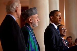 Presidents Karzai and Obama
